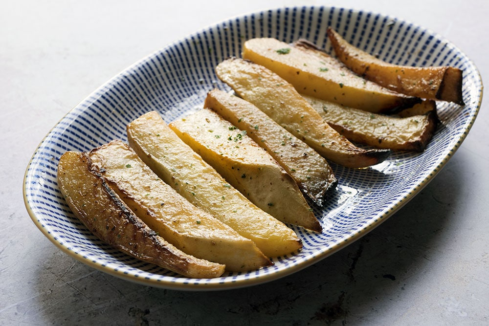 cajun spiced swede chips