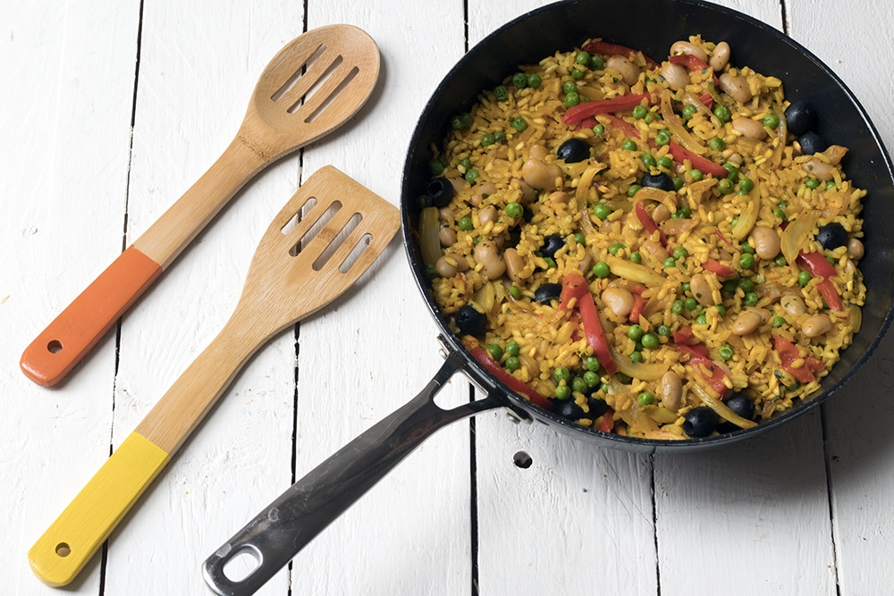 easy vegetarian paella recipe