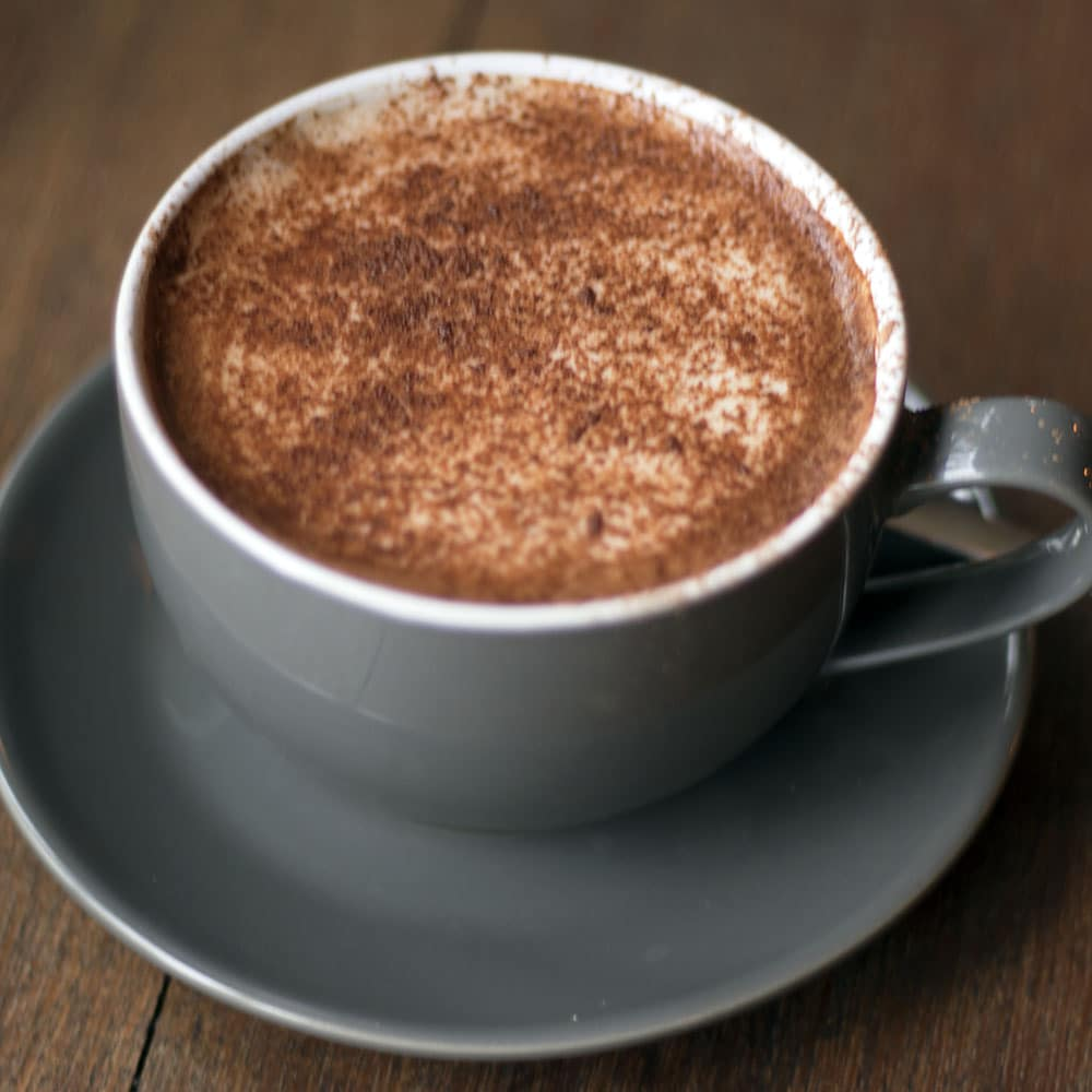 Rehab Hackney review - vegan friendly restaurants in London - hot chocolate