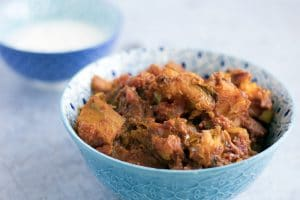 Afghan inspired pumpkin curry kaddo bourani