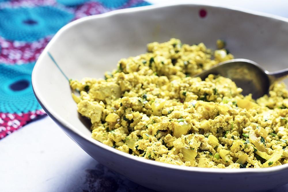 masala spiced scrambled tofu