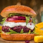 Demuths Indulgent vegan cookery class and beetroot burger recipe