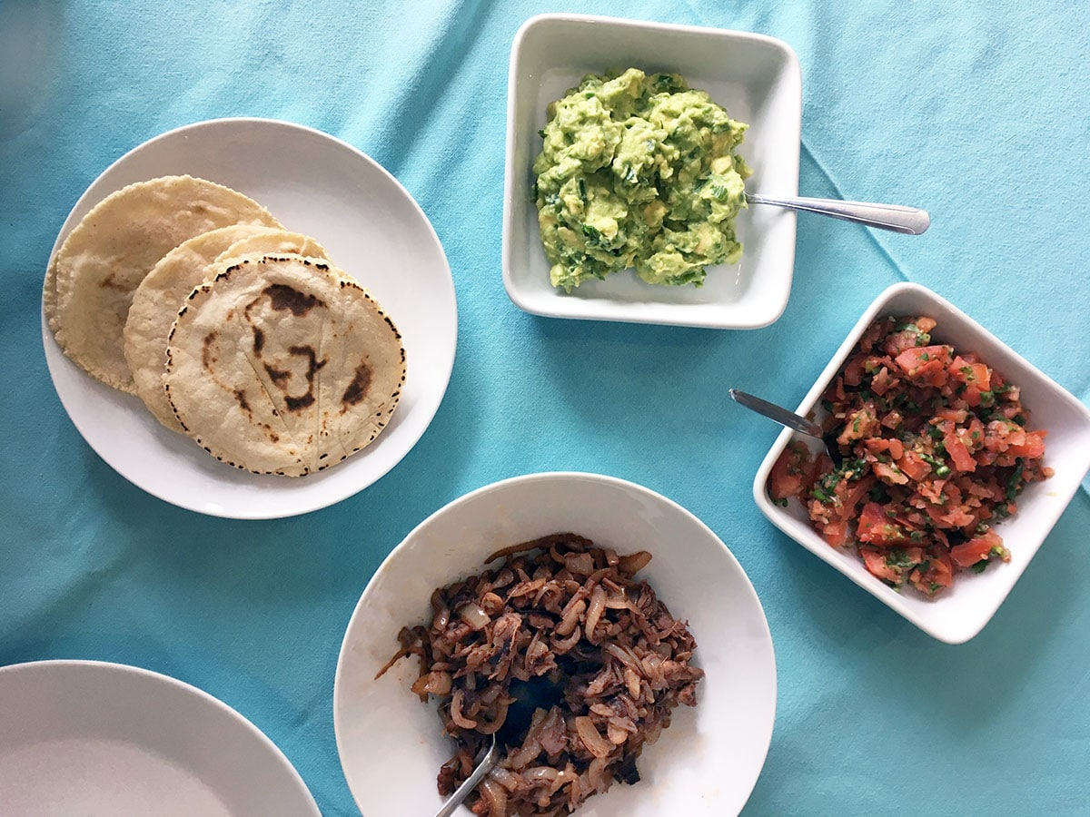 Demuths Indulgent vegan cookery class and jackfruit tacos