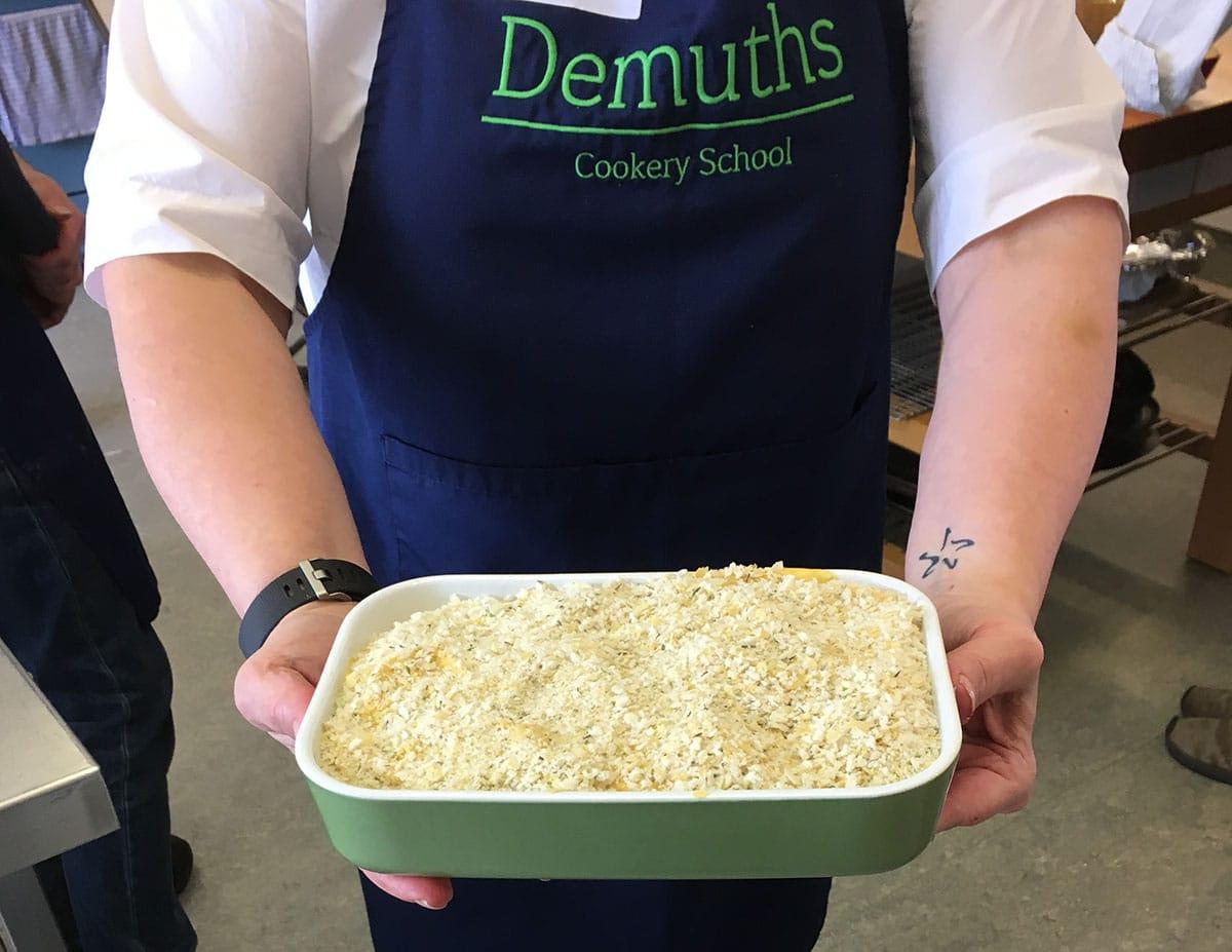 Mac n cheese vegan Demuths Indulgent vegan cookery class
