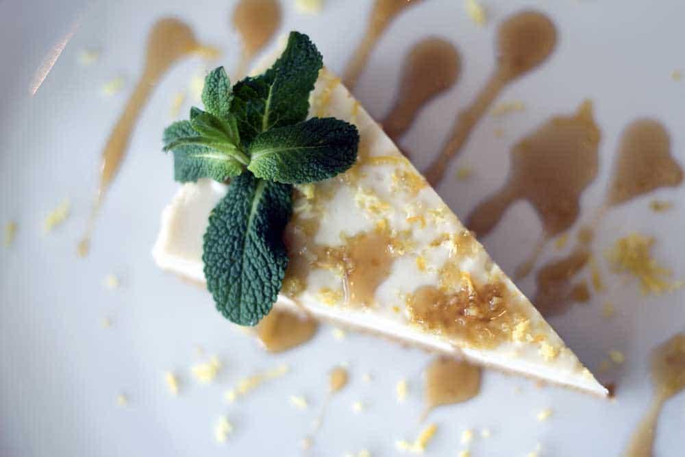 Sicilian lemon cheesecake at Comptoir V