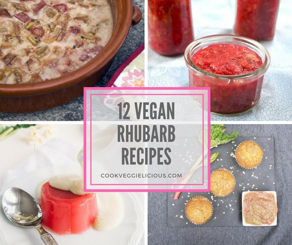12 vegan rhubarb recipes