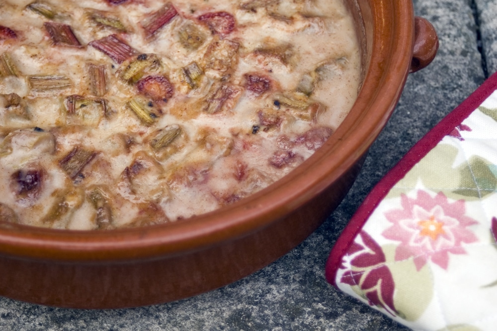 oven baked rhubarb and strawberry risotto by Sneaky Veg