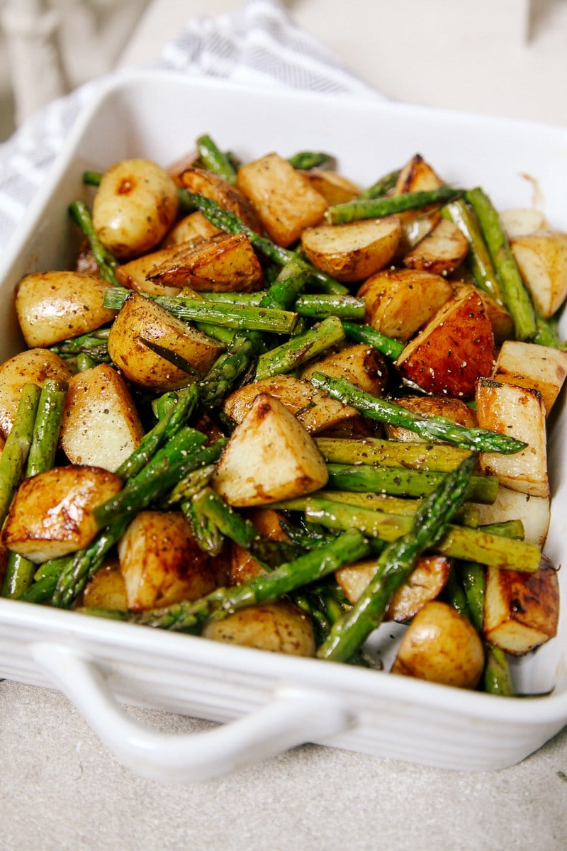 potatoes and asparagus - vegan asparagus recipes