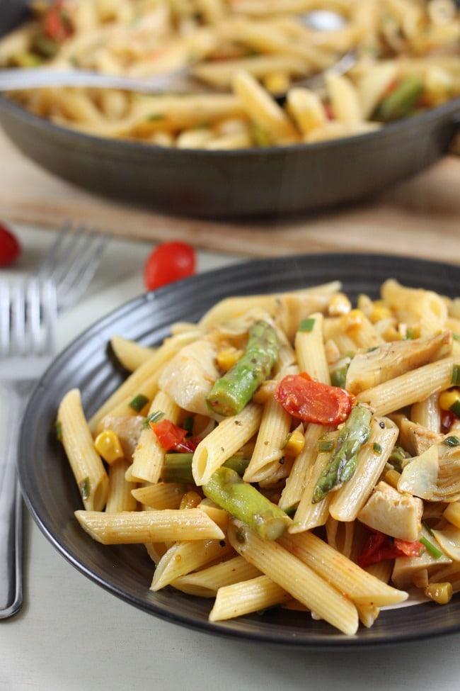 veggie pasta artichokes - vegan asparagus recipes