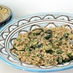 pasta with courgettes and lovage recipe