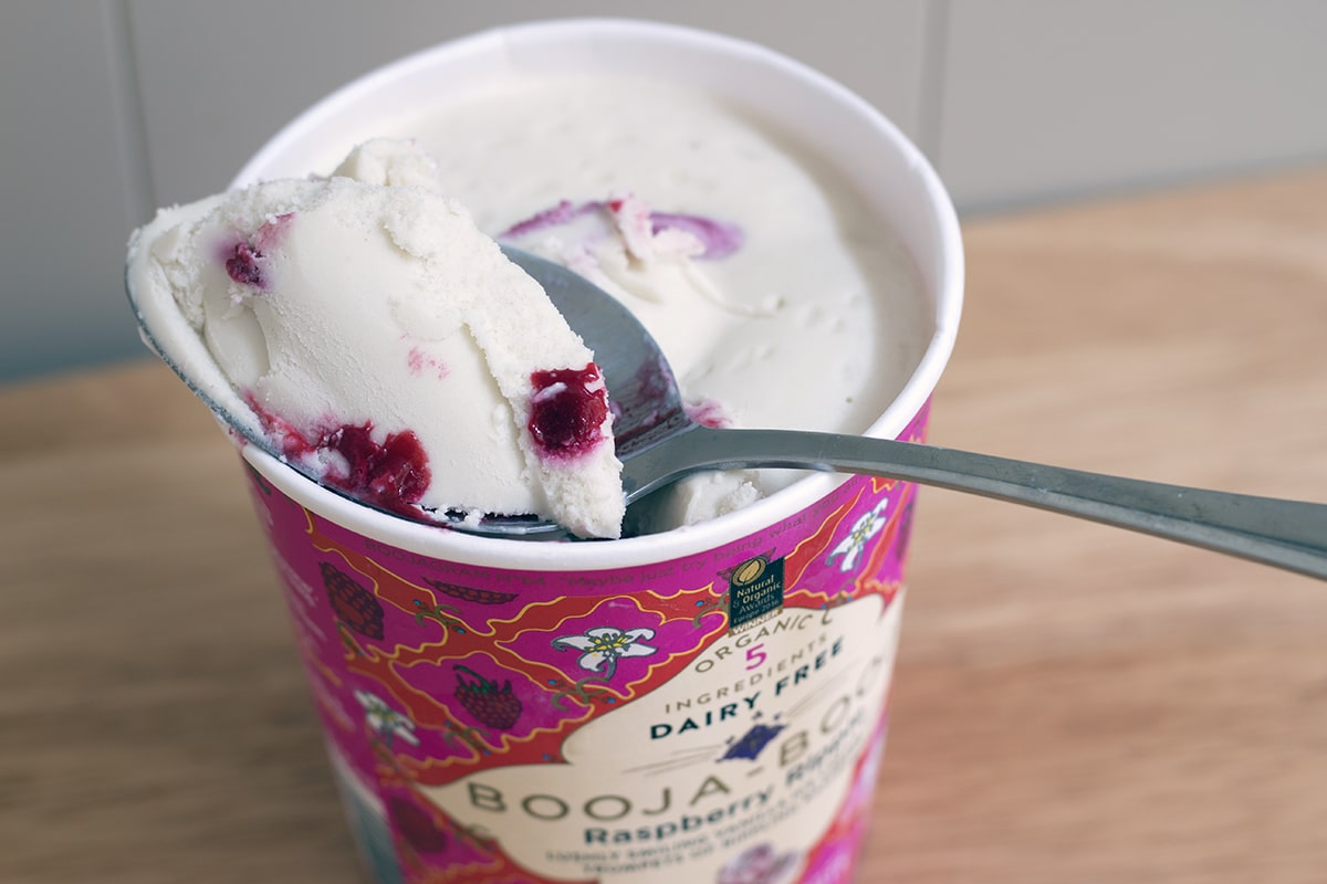 best vegan ice cream booja booja raspberry ripple