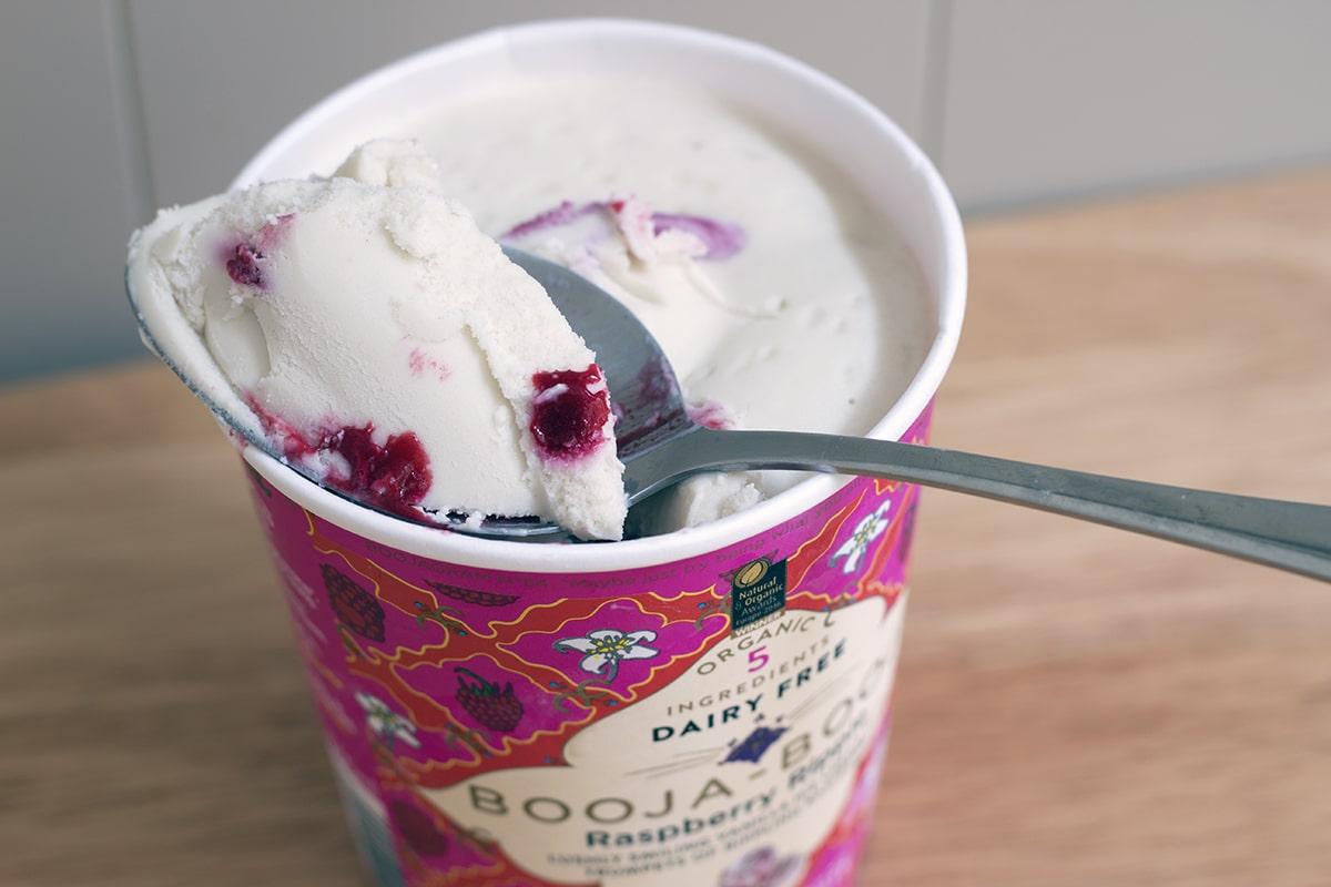 best vegan ice cream booja booja raspberry ripple