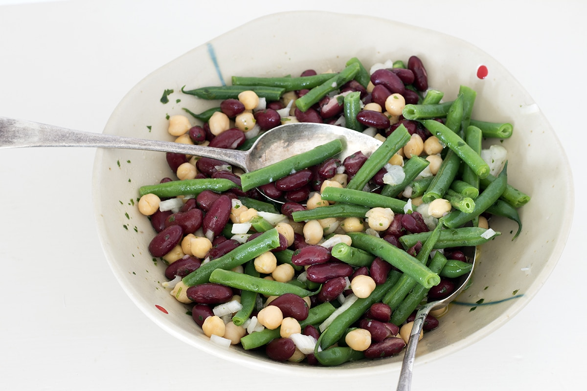 three bean salad by Cook Veggielicious