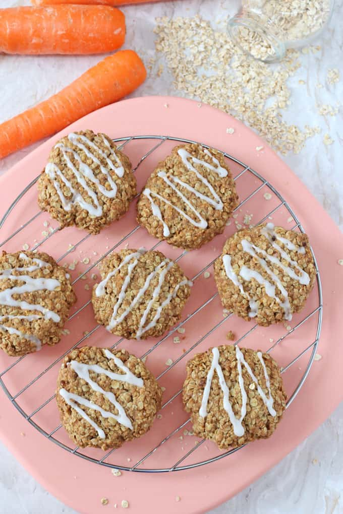 carrot cake cookies by My Fussy Eater - vegan picnics