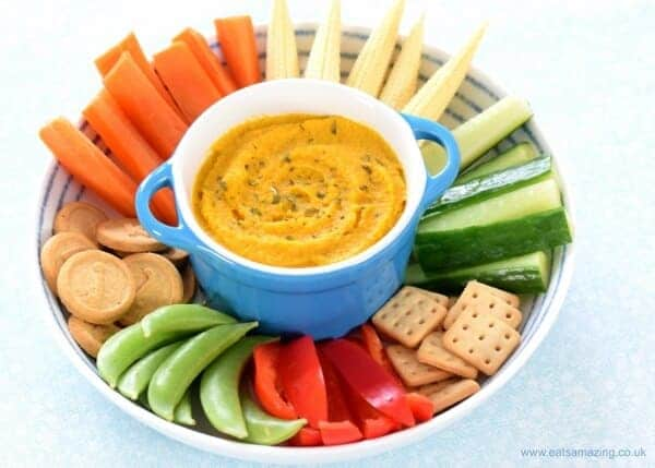 vegan picnics - roasted carrot dip