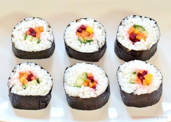 vegan picnics - rainbow sushi