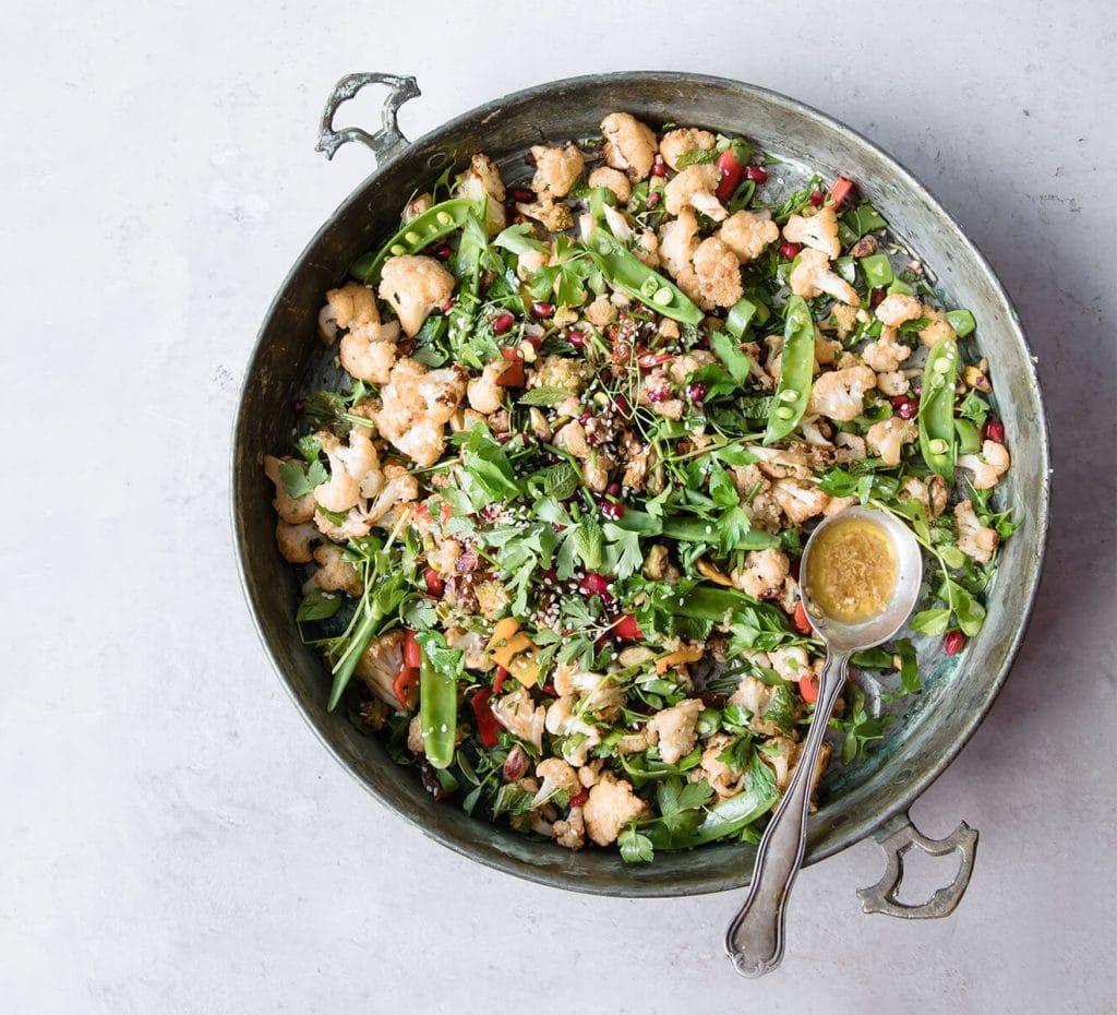 vegan picnics - roasted cauliflower salad