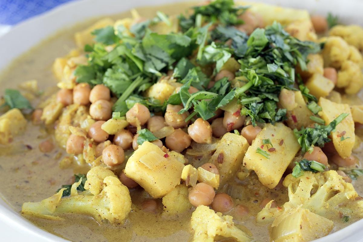 parsnip, chickpea and cauliflower korma