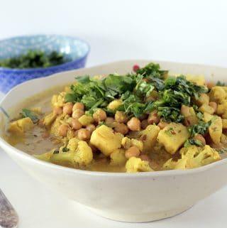 parsnip, chickpea and cauliflower vegan korma