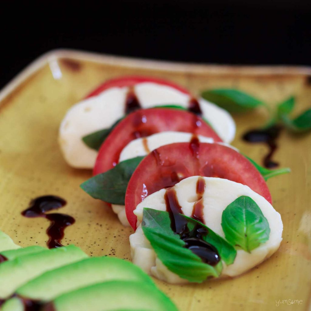 vegan picnics - vegan caprese by yumsome