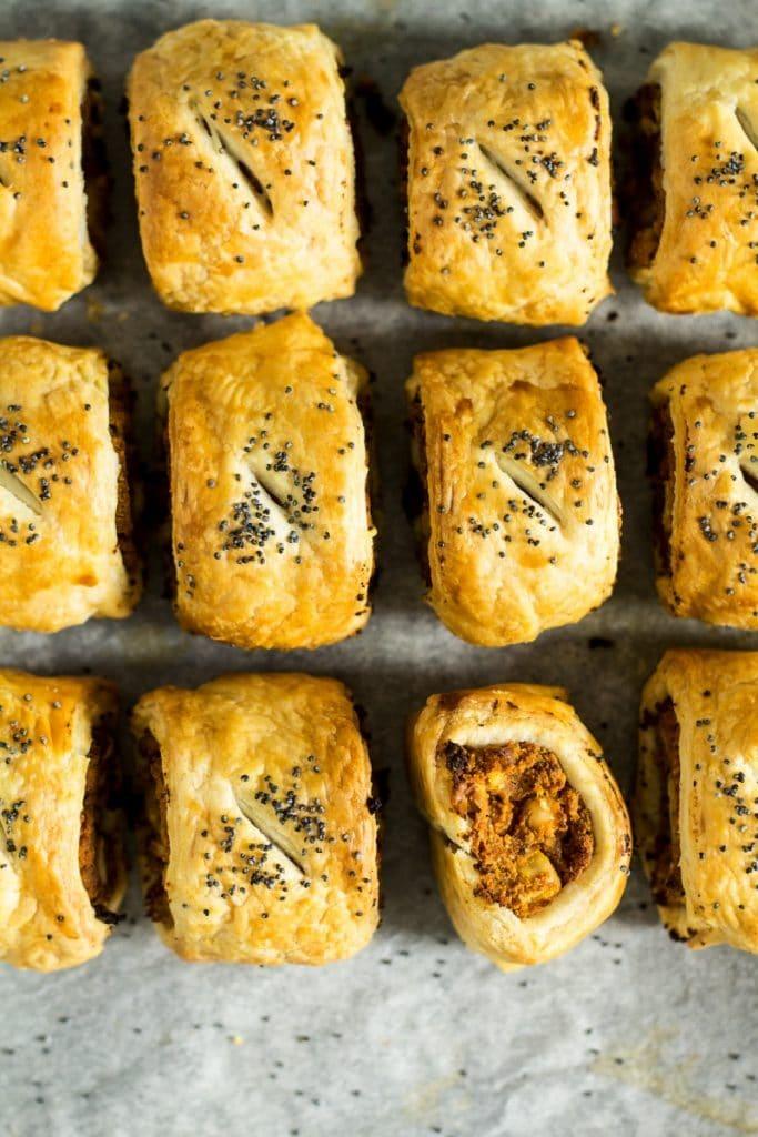 vegan picnics - vegan sausage roll for lazy cat kitchen