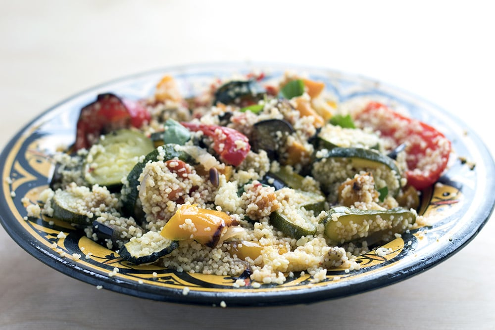 roasted vegetable cous cous by Cook Veggielicious