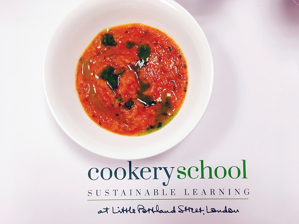 tomato soup at Cookery School