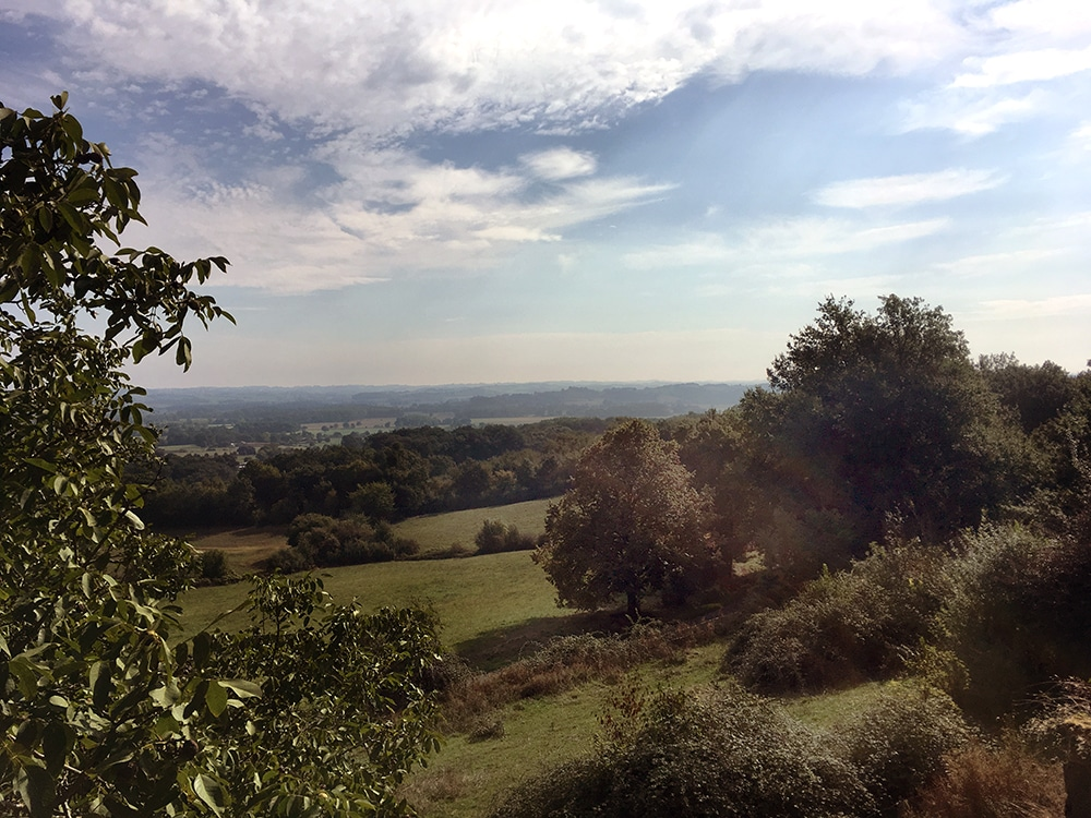 view of the countryside near Domaine du Pignoulet holiday house with pool in France