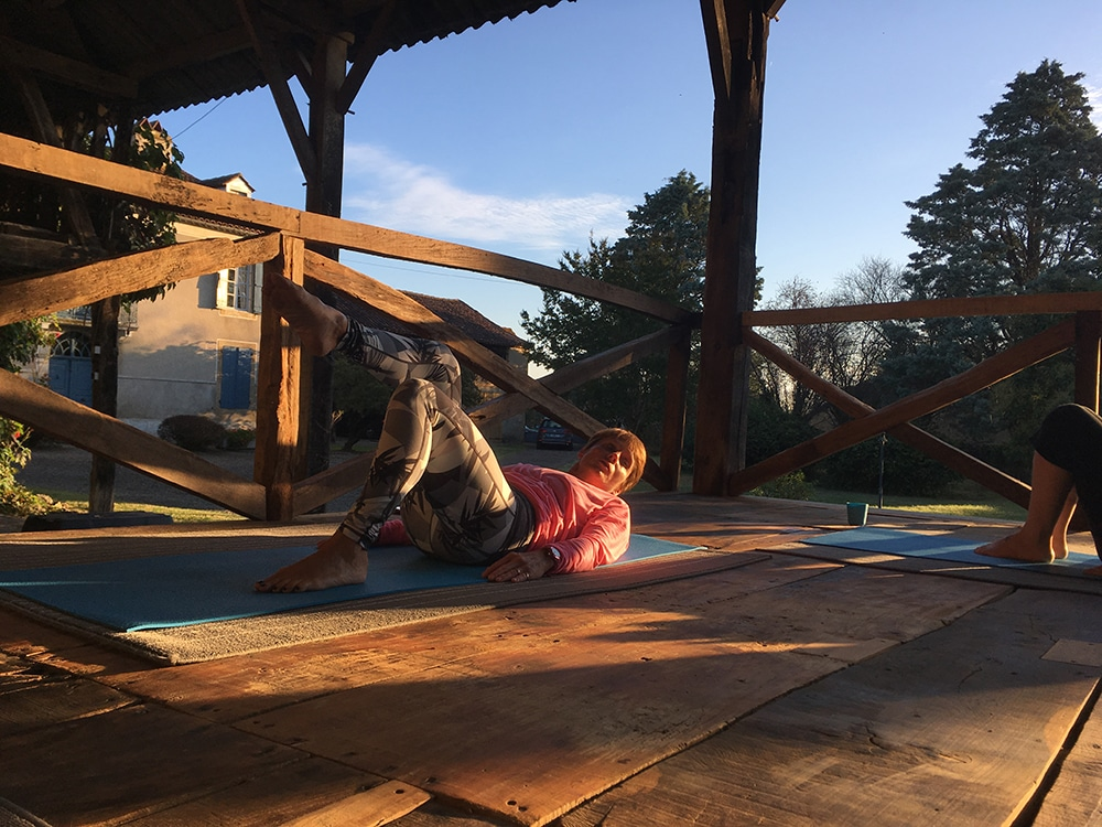 Pilates retreat in France - review of Domaine du Pignoulet Susie Wetton teaching