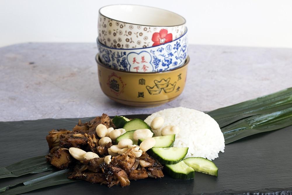 vegan jackfruit nasi lemak recipe