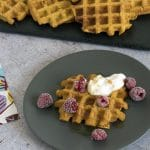 vegan pumpkin waffles by Cook Veggielicious