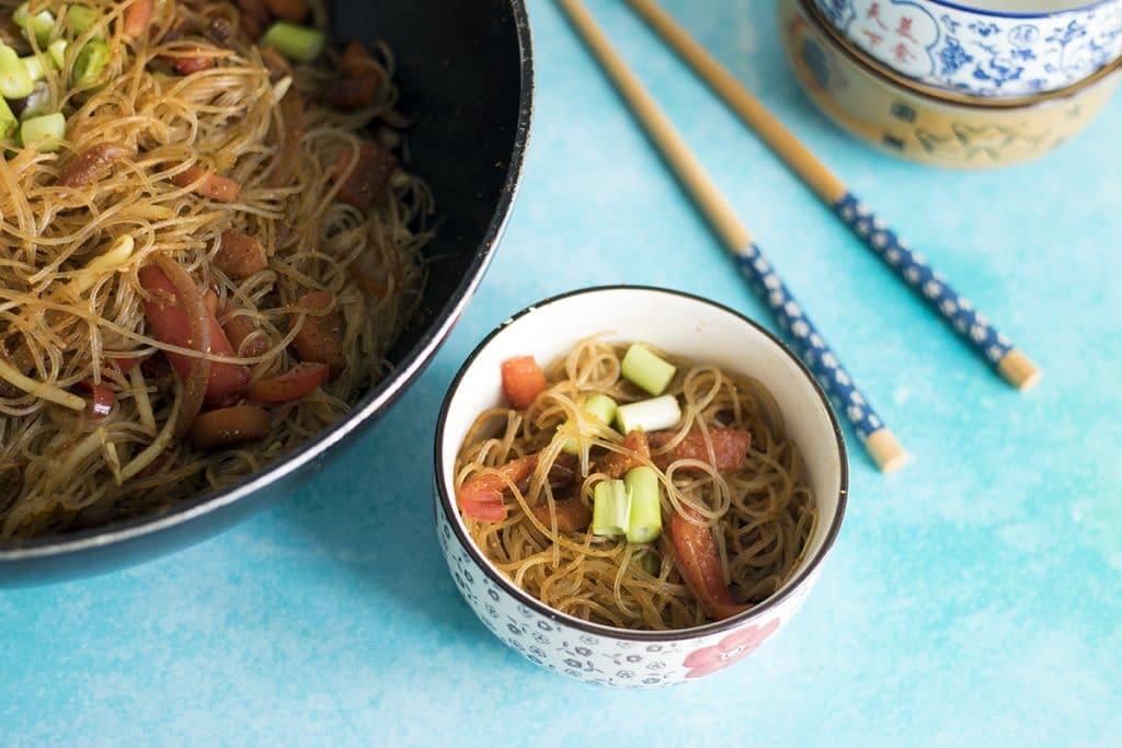 vegan singapore noodles