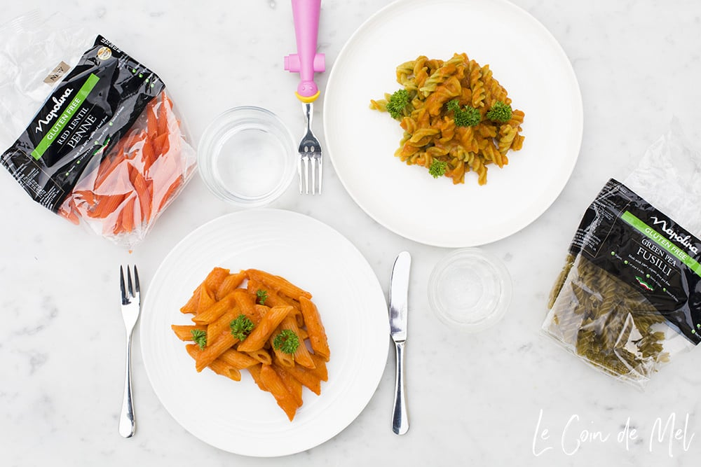easy vegan pasta recipes - vegan sauce with hidden vegetables by Le Coin de Mel