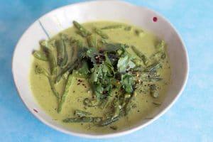 vegan coconut green bean curry