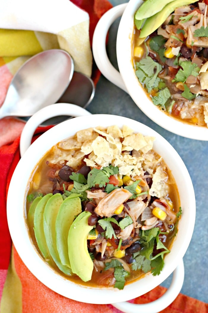 Vegan taco soup by Veggies Save The Day