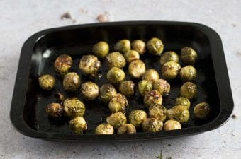 roasted balsamic brussels sprouts by Cook Veggielicious