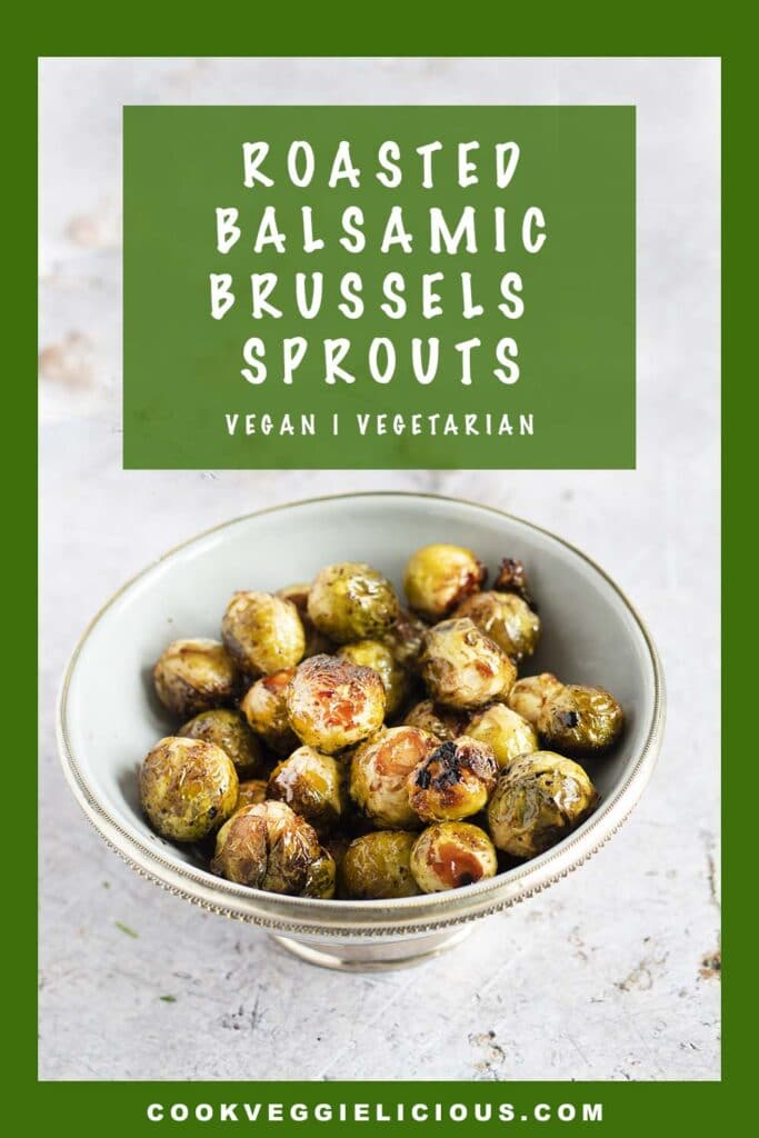 roasted brussels sprouts in grey bowl