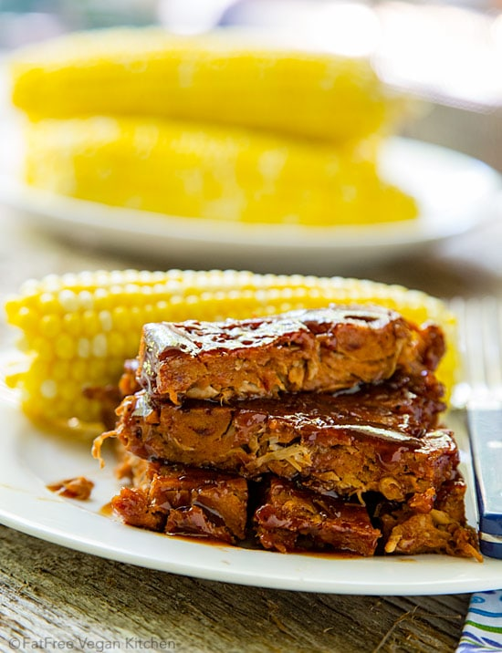 jackfruit vegan ribs by Fat Free vegan