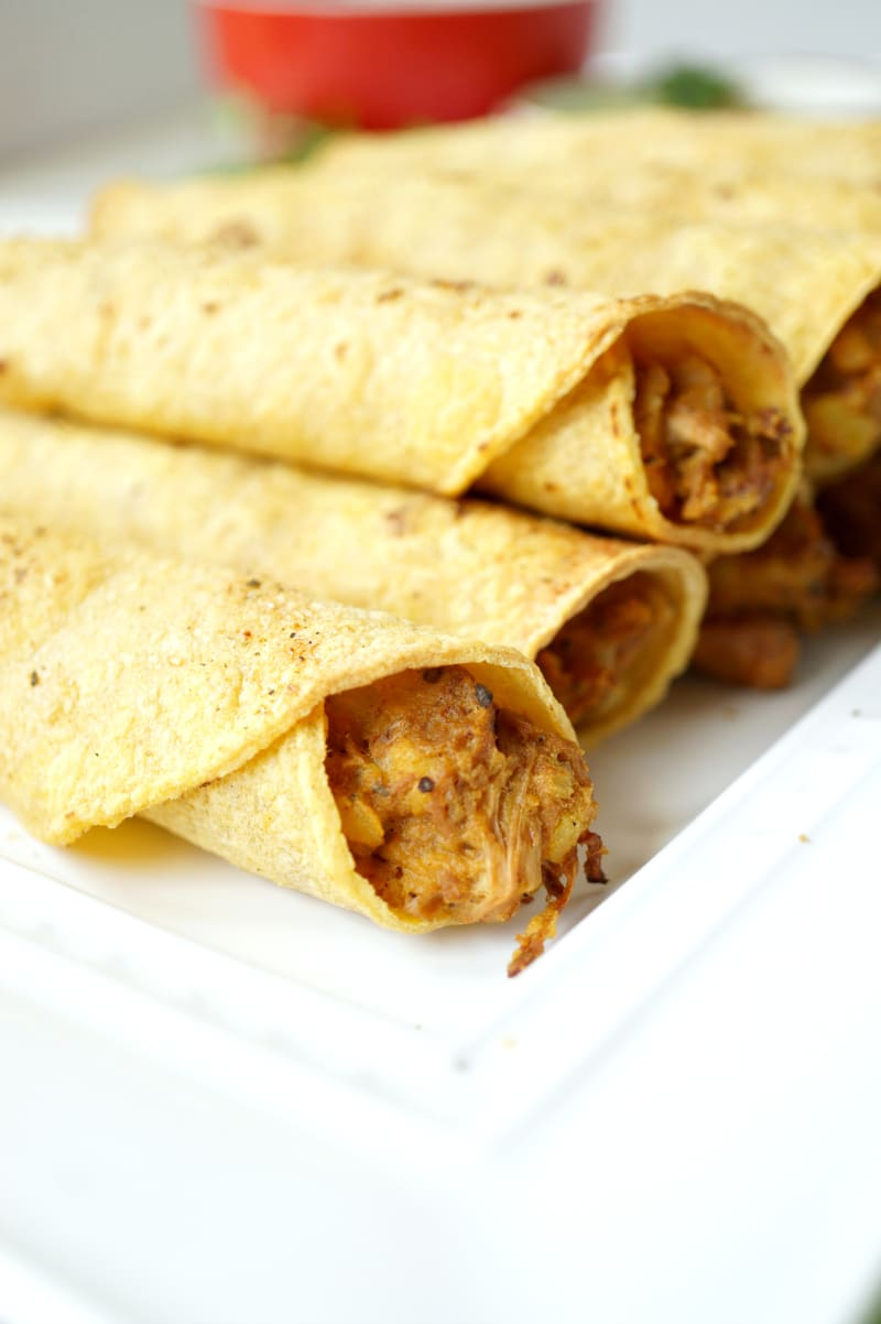 Jackfruit taquitos by The Baking Fairy