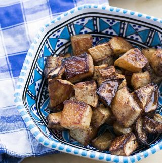 maple roasted swede with cumin by Cook Veggielicious