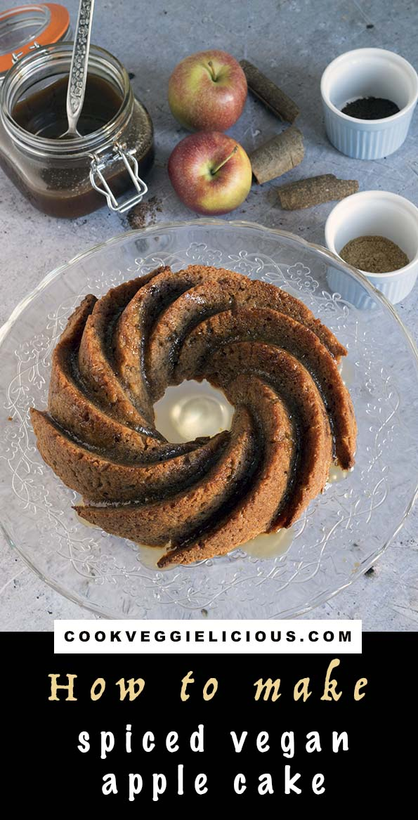 spiced vegan apple cake by Cook Veggielicious