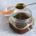 vegan salted caramel sauce recipe by Cook Veggielicious