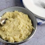 creamy vegan mashed parsnips by Cook Veggielicious