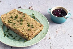 Vegan cashew nut roast with parsnips by Cook Veggielicious