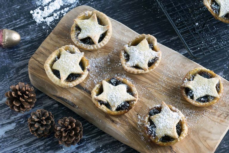 vegan mince pies with almond pastry recipe by Cook Veggielicious