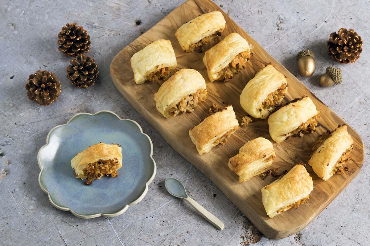 Vegetarian sausage rolls by Sneaky Veg - vegan party food