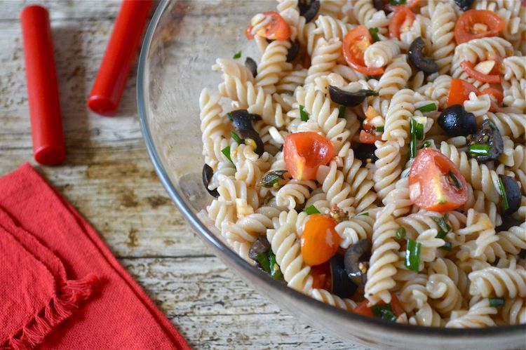 Sicilian pasta salad by Tin and Thyme