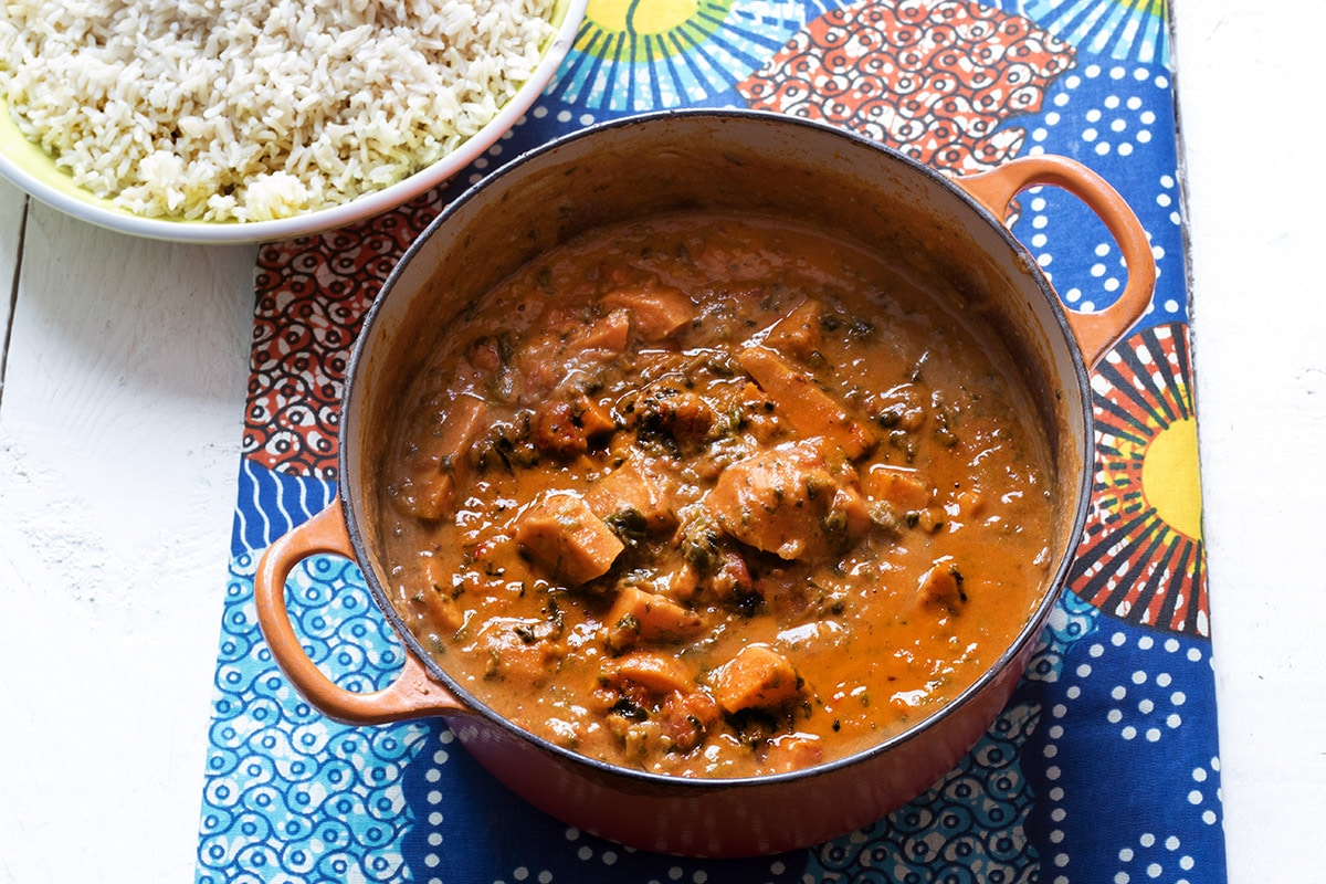 Sudanese sweet potato and peanut stew by Sneaky Veg