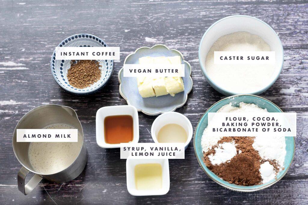 ingredients for vegan oreo cake