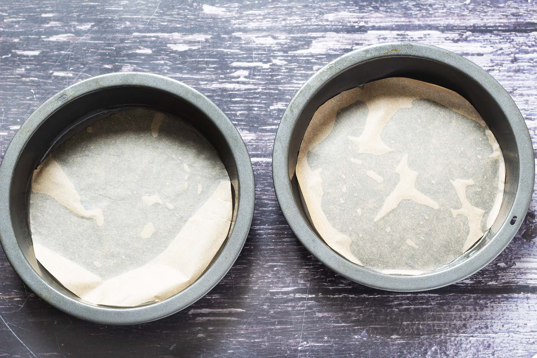 two lined sandwich tins
